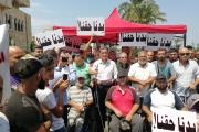 الأحدب في احتجاج الميناء: لن نخرج من الشارع حتى توظيف ذوي الحاجات الخاصة
