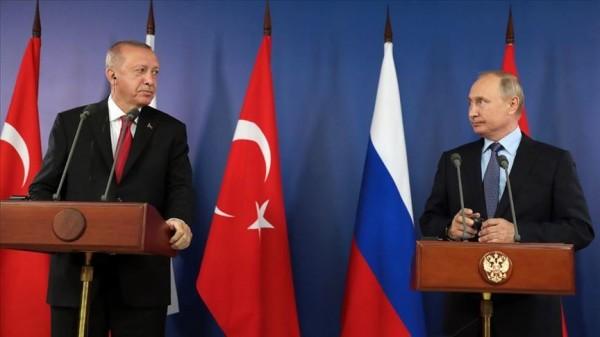 المؤتمر الصحفي بين الرئيسين أردوغان وبوتين في اللقاء المشترك بموسكو