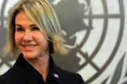 بالفيديو ... سفيرة واشنطن الجديدة لدى الأمم المتحدة تغضب الصحافيين بهذا التصرف