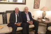 القصيفي زار رئيس مجلس القضاء الاعلى مهنئا وبحث معه في مسألة جريدة نداء الوطن