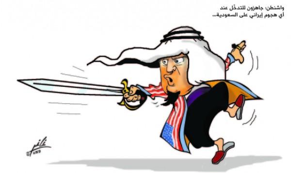 واشنطن : جاهزون للتدخل عند اي هجوم ايراني على السعودية