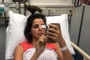 انزلاق سيارة تابعة للـ 'MTV'.. وإصابة نوال برّي