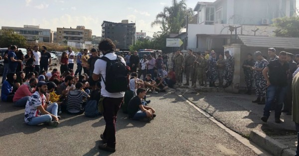 اعتصام امام قصر عدل صيدا.. رفضاً لمحاكمة متظاهرين بتهمة الشغب