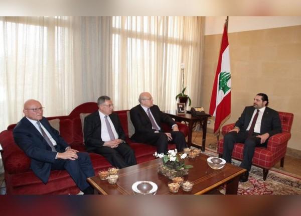 رؤساء الحكومات السابقون: الأوضاع في لبنان لم تعد تحتمل