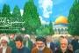 صورة على موقع خامنئي تثير ضجة.نصرالله في الطليعة و الأسد في الخلف و الحشد غائب و سليماني على شكل غيمة