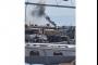 بالصور والفيديو- حريق خارج حرم مرفأ طرابلس.. ما السبب؟