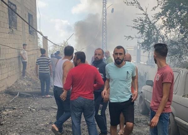 بالفيديو والصور- 'انفجار ضخم' في عين قانا... والهلع يُسيطر بين السكان!