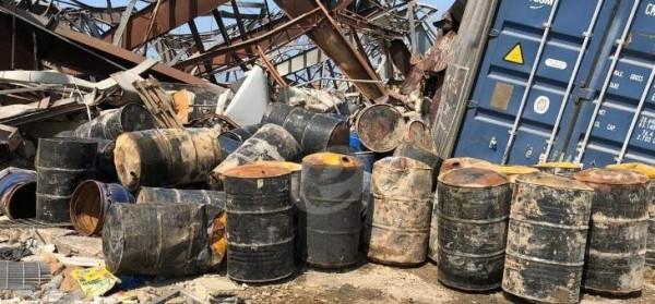 'النشرة' تكشف بالصور كيف كان التعامل مع مواد شديدة الخطورة في مرفأ بيروت
