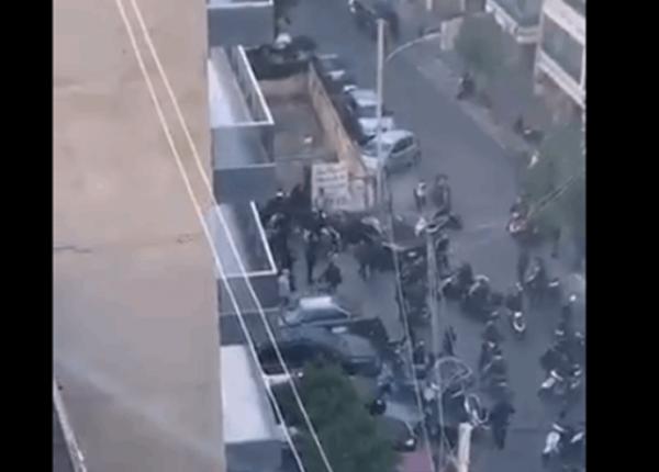 بالفيديو- اشتباك مسلح في منطقة عائشة بكار