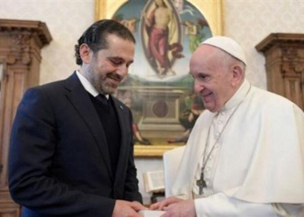 الحريري: البابا سيزور لبنان بعد تشكيل الحكومة