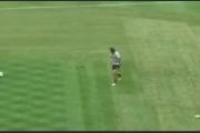 آشلي كول يصيب حمامة بركلة خلال التمارين (فيديو)